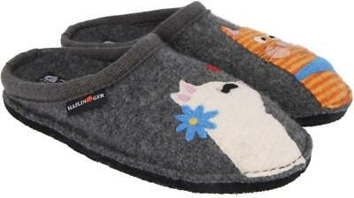 Haflinger Catsinlove Anthrazit Slippers Women's Clogs Wool Grey 31308104 • 59£