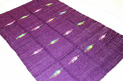 Genuine New Purple Themed Mexican Bird Floor Rug Large Blanket Throw Yoga Mat • 45.28£
