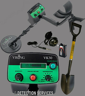 Viking VK30 Metal Detector Motion And Non-motion Land Shoreline Of War Coin • 269.89£