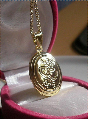 9ct Gold Gf Locket Chain THIS IS STUNNING,SILLY PRICE ALMOST SOLD OUT 78 • 19.95£