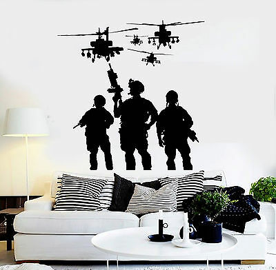 $69.99 • Buy Vinyl Wall Decal Soldiers Helicopters Military War Stickers Mural (ig3801)