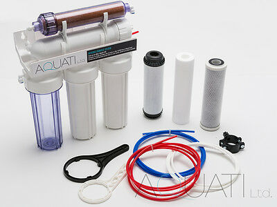 5 Stage RO & DI Resin Reverse Osmosis Water Filter System 50/75/100/150GPD  • 79.50£