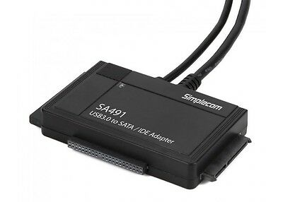 AU44.99 • Buy 3-IN-1 USB 3.0 TO 2.5 , 3.5  & 5.25  SATA/IDE Adapter With Power Supply