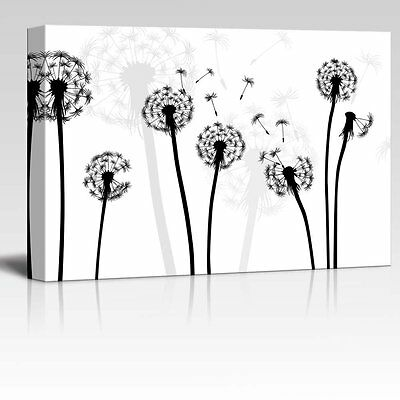 $25.99 • Buy Wall26 - Black And White Style Dandelion - Canvas Wall Art Home Decor - 12x18