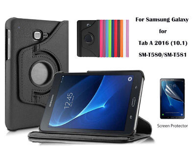 AU2.50 • Buy  Screen Protector/360°Rotate PU Leather Case For Samsung Galaxy Tab A 10.1  2016