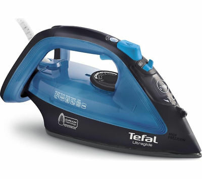 View Details TEFAL Ultraglide FV4043 Steam Iron - Black & Blue - Currys • 29.99£