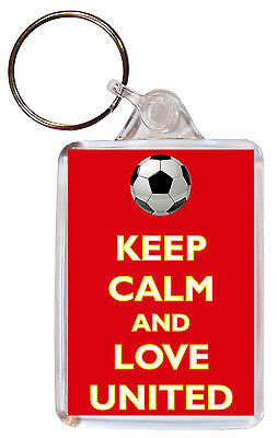 £2.15 • Buy Keep Calm And Love United Double Sided Large Keyring FC/Football Man/Manchester