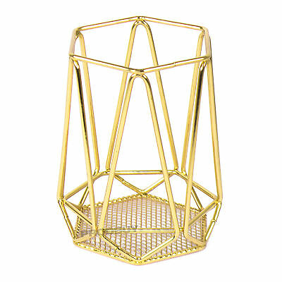 AU19.50 • Buy Metal Wire Geometric Gold Cutlery Utensil Holder Kitchen Storage Pot Caddy Rack