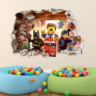 Lego Movie Wall Sticker 3d Boys Girls Bedroom Vinyl Wall Art Decal • 25.07£