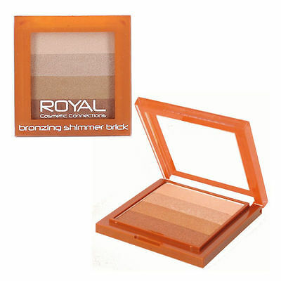 Royal Bronzing Shimmer Brick Highlighter Powder Compact - New • 2.99£