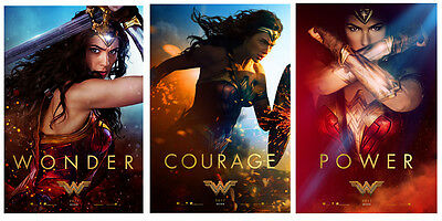 $ CDN40.29 • Buy Set Of Wonder Woman Movie Silk Fabric Poster 11 X17  24 X36  3 Posters