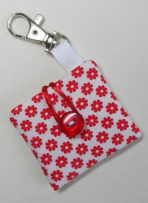 Handmade IPod Shuffle 4th Generation Case/Cover/Pouch. Floral Cotton Fabric. • 4.60£