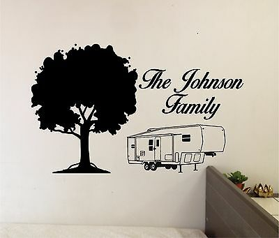 £7.27 • Buy Family Name & Camper Wall Sticker Vinyl Decals Art Home Decor Lettering