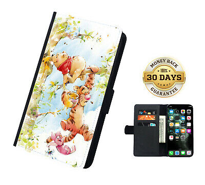 AU16.99 • Buy Disney Winnie The Pooh Printed Faux Leather Flip Case Cover Wallet