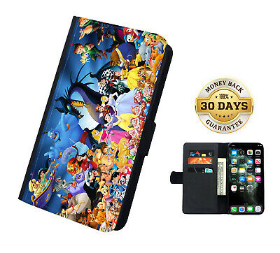 AU16.99 • Buy Disney Characters Faux Leather Flip Phone Case Cover Wallet