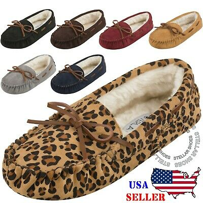 cd4be0b0c Women s Moccasins Slip On Indoor Outdoor Shoe Slipper Fur Loafer  FREE  SHIPPING  • 12.99