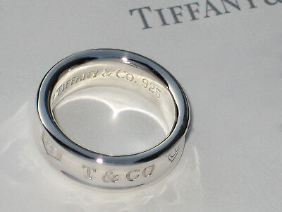 £174.99 • Buy Tiffany & Co Sterling Silver Solid Ring 1837 Concave Thick Band Ring RRP £270