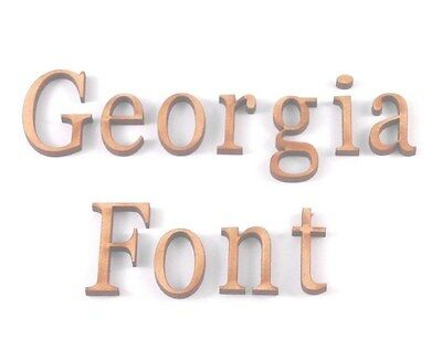 GEORGIA WOODEN LETTERS Lettering Words Craft Card Wall Art Door Sign Plaque • 4.25£