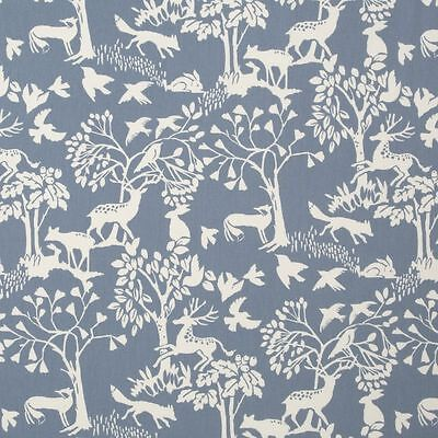 Vilda Woodland Chambray Cotton PVC WIPE CLEAN Tablecloth Oilcloth • 6.99£