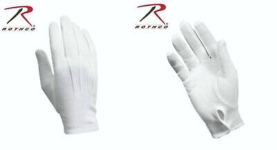 $6.99 • Buy White Cotton Dress Parade Band Waiter Gloves Military Formal Color Guard Tuxedo
