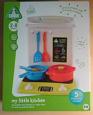£9.99 • Buy ELC Kids Childrens My First Little Kitchen Play Centre Set Pots And Pans NEW