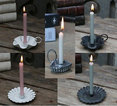 £5.25 • Buy Vintage Style Small Candle Holder For Mini Candle White Black Zinc Heart Design