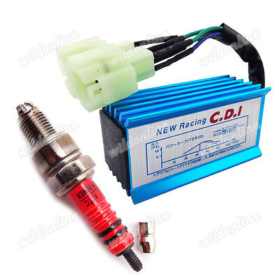 $6.51 • Buy Racing AC CDI 3 Electrode Ignition Spark Plug For GY6 50cc 125cc 150cc Moped