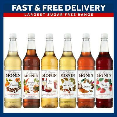 Monin 1L Syrups Multiple Flavours For Coffee And Cocktails - As Used By Costa • 10.85£