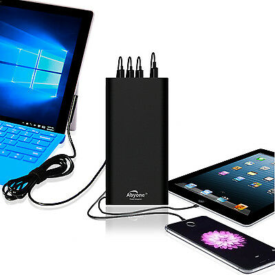 AU202.68 • Buy Abyone Portable Charger External Battery Power Bank Fr Surface Pro Book 2 Laptop