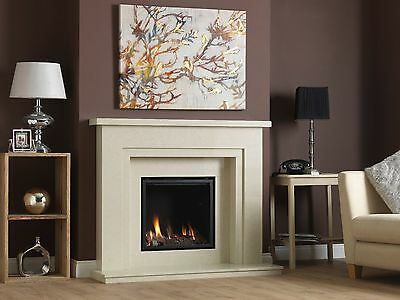 £1995 • Buy Vola 600 Marble Fireplace And Large Glass Fronted Gas Fire 4.2Kw