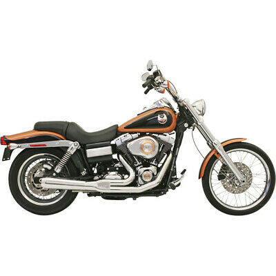 AU975.74 • Buy Bassani Chrome Road Rage 2 Into 1 Short Upswept Stepped Exhaust Harley FXD 06-16
