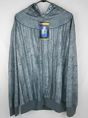 £13.07 • Buy Doctor Who Weeping Angel Zip-Up Hoodie Costume Size L Licensed Dr. NEW NWT