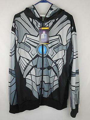 £14 • Buy Doctor Who Cyberman Zip-Up Hoodie Costume Size M Licensed Dr. NEW NWT