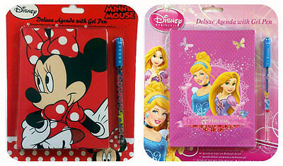 £1.99 • Buy Disney Delux Agenda With Gel Pen Minnie Mouse Princess Diary Notebook Girls