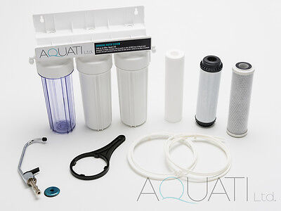 £49.95 • Buy NEW UNDER-SINK DRINKING WATER FILTER SYSTEM TAP KIT FAUCET +ACCESSORIES Aquati
