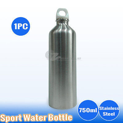 AU14.95 • Buy 1PC 750ml Stainless Steel Water Bottle Sport Outdoor Training Drink Gym Camping