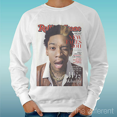 Men's Sweatshirt Light Sweater White   Wiz Khalifa Funny Music   Road To • 26.64£