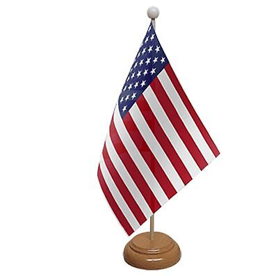 Usa Table Flag 9 X6  With Wooden Base Flags United States Of America American • 4.99£