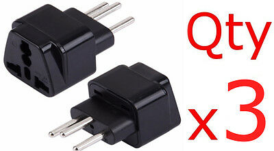 £7.79 • Buy 3PK Switzerland Travel Adapter Plug Type J Swiss Electrical Outlet 3 Prong