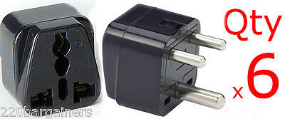 AU15.45 • Buy 6PK India 3-Round Pin Plug Adapter With Universal Output Socket