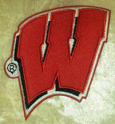 $4.95 • Buy University Of Wisconsin Badgers Iron On Embroidered Patch ~FREE Ship!!
