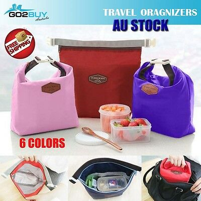 AU4.59 • Buy Portable Thermal Insulated Cooler Waterproof Picnic Lunch Box Storage Bag Pouch