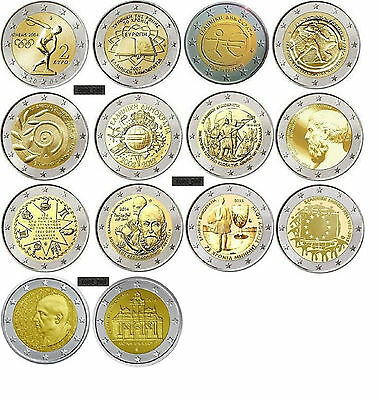 $ CDN116.16 • Buy Greece  Grece Grecia Griechenland  Complete 2  Euro  Greek Coin  Collection  Unc