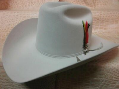 40d7ddb1bea4a New Mens Stetson Rancher 6X Silver Grey Beaver Fur Felt Cowboy Hat Tall  Crown • 215.99