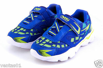 £14.54 • Buy Toddler Boy's Sneakers Tennis Shoes Easy To Wear Royal Neon G Light Weigh