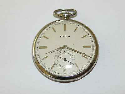 Cyma,Open Face,Taschenuhr,Pocket Watch,TU,Montre,Orologio,Frackuhr,Reloj • 189£