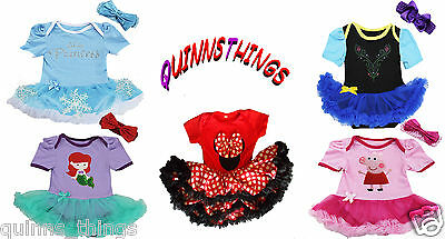 Disney Princess Baby Toddler Girl Party Costume Fancy Dress Outfit.Fast,UK & New • 17.99£