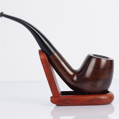 AU21.50 • Buy Classic Leaflets Ebony Wood Tobacco Smoking Pipes 9mm Filter Element Best 5080HC