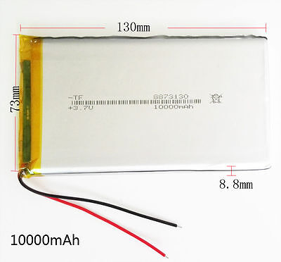 £13.99 • Buy 10000mAh 3.7V LiPo Polymer Battery For Power Cell Bank Tablet PC PAD PDA 8873130
