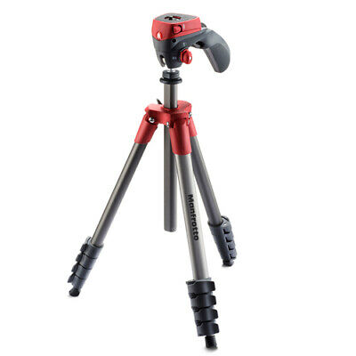 AU114.85 • Buy Manfrotto Compact Action Tripod (MKCOMPACTACN-RD) [MANFROTTO WARR]